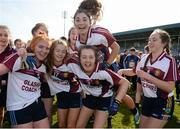 26 March 2017; Presentation Thurles players celebrate following their victory during the Lidl All Ireland PPS Senior C Championship Final match between Presentation S.S and Holy Faith S.S at O'Moore Park in Portlaoise. Photo by Seb Daly/Sportsfile