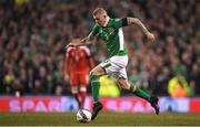 24 March 2017; James McClean of Republic of Ireland during the FIFA World Cup Qualifier Group D match between Republic of Ireland and Wales at the Aviva Stadium in Dublin. Photo by Brendan Moran/Sportsfile