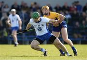 26 March 2017; Tom Devine of Waterford in action against Cian Dillon of Clare during the Allianz Hurling League Division 1A Round 5 match between Clare and Waterford at Cusack Park in Ennis. Photo by Diarmuid Greene/Sportsfile