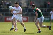 26 March 2017; Sean Cavanagh of Tyrone in action against Stephen Coen of Mayo  during the Allianz Football League Division 1 Round 6 match between Tyrone and Mayo at Healy Park in Omagh. Photo by Oliver McVeigh/Sportsfile