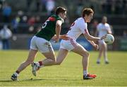 26 March 2017; Peter Harte of Tyrone in action against Lee Keegan of Mayo during the Allianz Football League Division 1 Round 6 match between Tyrone and Mayo at Healy Park in Omagh. Photo by Oliver McVeigh/Sportsfile