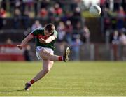 26 March 2017; Cillian O'Connor of Mayo scoring a point during the Allianz Football League Division 1 Round 6 match between Tyrone and Mayo at Healy Park in Omagh. Photo by Oliver McVeigh/Sportsfile