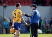 26 March 2017; Cian Dillon of Clare with joint manager Gerry O'Connor after the Allianz Hurling League Division 1A Round 5 match between Clare and Waterford at Cusack Park in Ennis. Photo by Diarmuid Greene/Sportsfile