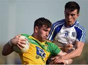 26 March 2017; Patrick McBrearty of Donegal in action against Shane Carey of Monaghan during the Allianz Football League Division 1 Round 6 match between Donegal and Monaghan at Fr. Tierney Park in Ballyshannon, Co. Donegal. Photo by Philip Fitzpatrick/Sportsfile