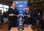 26 March 2017; Andrew Owen, Bank of Ireland and Chairman of Enniscorthy RFC, with Colin Kingston, Bank of Ireland and past president of Wicklow RFC, at the Leinster Provincial Towns Cup semi-finals draw at Enniscorthy RFC in Co. Wexford Photo by Matt Browne/Sportsfile