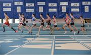26 March 2017; A general view during the U19 Men's 1500m event during the Irish Life Health Juvenile Indoor Championships 2017 day 2 at the AIT International Arena in Athlone, Co. Westmeath. Photo by Sam Barnes/Sportsfile