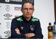 27 March 2017; Republic of Ireland manager Martin O'Neill during a press conference, at FAI National Training Centre, in Abbotstown, Co. Dublin. Photo by David Maher/Sportsfile