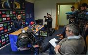 27 March 2017; Robbie Henshaw of Leinster during a Press Conference in Leinster Rugby HQ, UCD in Dublin. Photo by Brendan Moran/Sportsfile