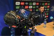 27 March 2017; Robbie Henshaw of Leinster during Press Conference in Leinster Rugby HQ, UCD in Dublin. Photo by Brendan Moran/Sportsfile