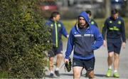 27 March 2017; Jack Conan of Leinster arrives for a Leinster rugby squad training session at Rosemount, UCD, in Dublin. Photo by Brendan Moran/Sportsfile