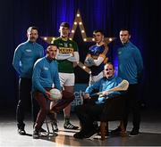 27 March 2017; Electric Ireland, proud sponsor of the GAA Minor Championships, announced the launch of the Electric Ireland GAA Minor Star Awards which aim to recognise the achievements and accolades of Minor GAA players. Launching the awards were Electric Ireland GAA Minor Star Awards selection panel, from left, former Cork hurler Donal Óg Cusack, Meath Senior football manager Andy McEntee, former Armagh footballer Oisín McConville and former Galway hurler and All Ireland Club hurling championship winning manager Mattie Kenny with David Clifford, captain of defending All-Ireland Minor football champions, Kerry, and Paddy Cadell, captain of defending All-Ireland Minor hurling champions, Tipperary. Photo by Stephen McCarthy/Sportsfile