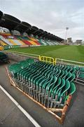 8 September 2011; A general view of temporary seating at Tallaght Stadium, where Shamrock Rovers are due to play Rubin Kazan in the first of their UEFA Europa League group stage games. Tallaght Stadium, Tallaght, Dublin. Picture credit: Brian Lawless / SPORTSFILE