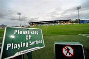 8 September 2011; A general view of signage at Tallaght Stadium, where Shamrock Rovers are due to play Rubin Kazan in the first of their UEFA Europa League group stage games. Tallaght Stadium, Tallaght, Dublin. Picture credit: Brian Lawless / SPORTSFILE