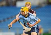 10 September 2011; Eamon Dillon, Dublin, in action against Jason Grealish, Galway. Bord Gais Energy GAA Hurling Under 21 All-Ireland 'A' Championship Final, Dublin v Galway, Semple Stadium, Thurles, Co. Tipperary. Picture credit: Dáire Brennan / SPORTSFILE