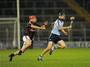 10 September 2011; Danny Sutcliffe, Dublin, in action against Jason Grealish, Galway. Bord Gais Energy GAA Hurling Under 21 All-Ireland 'A' Championship Final, Galway v Dublin, Semple Stadium, Thurles, Co. Tipperary. Picture credit: Ray McManus / SPORTSFILE