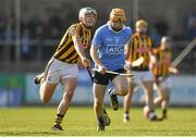 26 March 2017; Ben Quinn of Dublin in action against Paddy Deegan of Kilkenny during the Allianz Hurling League Division 1A Round 5 match between Dublin and Kilkenny at Parnell Park in Dublin. Photo by Brendan Moran/Sportsfile