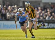 26 March 2017; TJ Reid of Kilkenny in action against Ciaran Dowling of Dublin during the Allianz Hurling League Division 1A Round 5 match between Dublin and Kilkenny at Parnell Park in Dublin. Photo by Brendan Moran/Sportsfile