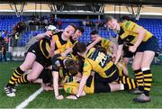 26 March 2017; The Carlow team celebrate following the Leinster Under 18 Youth Premier League Final between Carlow and Skerries at Donnybrook Stadium in Dublin. Photo by Ramsey Cardy/Sportsfile