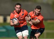 27 March 2017; Tommy O'Donnell, left, and Jaco Taute of Munster during squad training at the University of Limerick in Limerick. Photo by Diarmuid Greene/Sportsfile