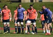 27 March 2017; Munster players, from right to left, Simon Zebo, Peter O'Mahony, Mark Chisholm, and CJ Stander during Munster Rugby squad training at the University of Limerick in Limerick. Photo by Diarmuid Greene/Sportsfile