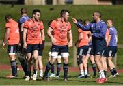 27 March 2017; Simon Zebo, right, Peter O'Mahony, centre, and Conor Murray of Munster during squad training at the University of Limerick in Limerick. Photo by Diarmuid Greene/Sportsfile