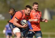 27 March 2017; CJ Stander of Munster in action against Simon Zebo during Munster Rugby squad training at the University of Limerick in Limerick. Photo by Diarmuid Greene/Sportsfile