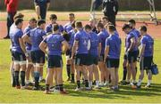 27 March 2017; Munster A head coach Peter Malone speaks to his players during Munster Rugby squad training at the University of Limerick in Limerick. Photo by Diarmuid Greene/Sportsfile