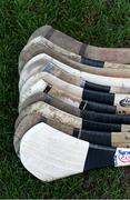 25 March 2017; A detailed view of hurleys at the Masita GAA All Ireland Post Primary Schools Paddy Buggy Cup Final game between John The Baptist Community School and St Mary's CBGS at Semple Stadium in Thurles, Co. Tipperary. Photo by Piaras Ó Mídheach/Sportsfile