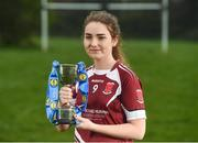 28 March 2017; In attendance at the Lidl Post Primary Schools Junior Finals Media Day is Niamh Gallagher from St. Columba's of Glenties Donegal at Clonlife College, in Dublin. The Lidl All Ireland Post Primary School's Finals take place this weekend. The Lidl Junior A Final takes place in Birr on Friday at 1:00pm when John the Baptist from Limerick face Loreto of Cavan. The Lidl Junior B sees St. Angela's of Waterford meet Mercy Ballymahon of Longford in Clane at 3pm on Sunday and the C Final will take place on Friday when St. Columba's Glenties of Donegal play Coláiste Baile Chláir of Galway. Photo by Eóin Noonan/Sportsfile