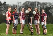 28 March 2017; In attendance at the Lidl Post Primary Schools Junior Finals Media Day are from left, Emma Flynn of St Angela's from Waterford, Ciara Healy of Mercy Ballymahon from Longford, Lauren McVeety of Loreto from Cavan, Anna Rose Kennedy of John the Baptist School from Limerick, Niamh Gallagher of St. Columba's from Glenties Donegal and Ciara McCarthy of Coláiste Baile Chláir from Galway at Clonlife College, in Dublin. The Lidl All Ireland Post Primary School's Finals take place this weekend. The Lidl Junior A Final takes place in Birr on Friday at 1:00pm when John the Baptist from Limerick face Loreto of Cavan. The Lidl Junior B sees St. Angela's of Waterford meet Mercy Ballymahon of Longford in Clane at 3pm on Sunday and the C Final will take place on Friday when St. Columba's Glenties of Donegal play Coláiste Baile Chláir of Galway. Photo by Eóin Noonan/Sportsfile