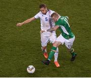 28 March 2017; James McClean of Republic of Ireland in action against Sverrir Ingi Ingason of Iceland during the International Friendly match between the Republic of Ireland and Iceland at the Aviva Stadium in Dublin. Photo by Eóin Noonan/Sportsfile