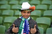 28 March 2017; Republic of Ireland supporter Pharrell Kareem, age 10, from Knockline, Dublin, ahead of the International Friendly match between the Republic of Ireland and Iceland at the Aviva Stadium in Dublin. Photo by Cody Glenn/Sportsfile
