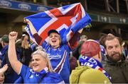 28 March 2017; Iceland supporters following the International Friendly match between the Republic of Ireland and Iceland at the Aviva Stadium in Dublin. Photo by Cody Glenn/Sportsfile