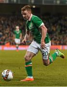 28 March 2017; Jonny Hayes of Republic of Ireland during the International Friendly match between the Republic of Ireland and Iceland at the Aviva Stadium in Dublin. Photo by David Maher/Sportsfile