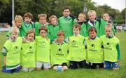 11 September 2011; The Naas under 8's team, back row, from left to right, Jack Dennis, Michael O'Dwyer, Jack Roberts, Conor Burke, Patrick Stapleton, Mark Alexander, Max O'Dowd, and Cillian Whytecock. Front row, from left to right, Sam Peacock, Oscar Maguire, Paul O'Dwyer, Fintan Quinn, Andrew Carroll, Colin Lardener and Darragh McDonald during the Leinster Rugby Club Open Day. Naas RFC, Naas, Co. Kildare. Picture credit: Barry Cregg / SPORTSFILE