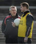 26 March 2017; Mayo Manager Stephen Rochford and Mayo Selector Tony McEntee  during the Allianz Football League Division 1 Round 6 match between Tyrone and Mayo at Healy Park in Omagh. Photo by Oliver McVeigh/Sportsfile