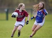 31 March 2017; Danielle McDevitt of St. Columbas in action against Amy Walsh of Colaiste Bhaile Chláir during the Lidl All Ireland PPS Junior C Championship final match between Colaiste Bhaile Chláir and St. Columbas at Connolly Park in Sligo. Photo by Sam Barnes/Sportsfile