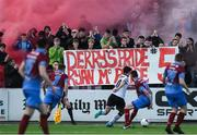 31 March 2017; Drogheda United supporters show their repect for the late Ryan McBride of Derry City during the SSE Airtricity League Premier Division match between Dundalk and Drogheda United at Oriel Park in Dundalk, Co. Louth. Photo by David Maher/Sportsfile