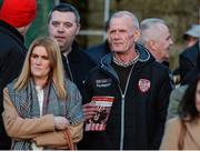 31 March 2017; Lexie McBride, father of the late Ryan McBride, watches on during the SSE Airtricity League Premier Division match between Derry City and Bray Wanderers at Maginn Park in Buncrana, Co. Donegal. Photo by Oliver McVeigh/Sportsfile