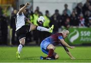 31 March 2017; Conor Clifford of Dundalk in action against Sean Thornton of Drogheda United during the SSE Airtricity League Premier Division match between Dundalk and Drogheda United at Oriel Park in Dundalk, Co. Louth. Photo by David Maher/Sportsfile