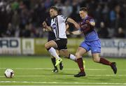 31 March 2017; Conor Clifford of Dundalk in action against Richie Purdy of Drogheda United during the SSE Airtricity League Premier Division match between Dundalk and Drogheda United at Oriel Park in Dundalk, Co. Louth. Photo by David Maher/Sportsfile
