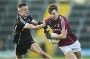 1 April 2017; Robert Finnerty of Galway in action against Luke Nicholson of Sligo during the EirGrid Connacht GAA Football U21 Championship Final match between Galway and Sligo at Markievicz Park in Sligo. Photo by David Fitzgerald/Sportsfile