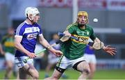 1 April 2017; Tom Murnane of Kerry in action against Ben Conroy of Laois during the Allianz Hurling League Division 1B Relegation Play-Off match between Laois and Kerry at O'Moore Park, in Portlaoise. Photo by Matt Browne/Sportsfile