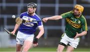 1 April 2017; John Lennon of Laois in action against Tom Murnane of Kerry during the Allianz Hurling League Division 1B Relegation Play-Off match between Laois and Kerry at O'Moore Park, in Portlaoise. Photo by Matt Browne/Sportsfile
