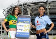 16 September 2011; Models Hannah Devane, left, and Georgia Salpa pictured at the Boylesports mobile site photocall. Jury's Inn, Croke Park, Dublin. Picture credit: Brian Lawless / SPORTSFILE
