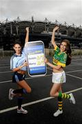 16 September 2011; Models Hannah Devane, right, and Georgia Salpa, pictured at the Boylesports mobile site photocall. Jury's Inn, Croke Park, Dublin. Picture credit: Brian Lawless / SPORTSFILE