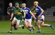 1 April 2017; Mikey Boyle of Kerry in action against Ross King of Laois during the Allianz Hurling League Division 1B Relegation Play-Off match between Laois and Kerry at O'Moore Park, in Portlaoise. Photo by Matt Browne/Sportsfile