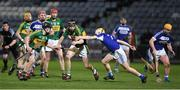 1 April 2017; Colum Harty of Kerry in action against Sean Downey of Laois during the Allianz Hurling League Division 1B Relegation Play-Off match between Laois and Kerry at O'Moore Park, in Portlaoise. Photo by Matt Browne/Sportsfile