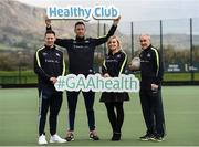 2 April 2017; GAA Healthy Club Ulster Roadshow- inspiring GAA clubs to become hubs for health.  Pictured at the GAA Ulster Healthy Clubs Roadshow is (l-r) Philly McMahon, Gaelic footballer for Dublin and Ballymun Kickhams, Michael Fennelly, hurler with the Kilkenny senior team, Anna Geary, former Cork Camogie captain, and Mickey Harte, manager of the Tyrone senior inter-county team. The GAA Healthy Clubs Project (HCP), in partnership with Irish Life and Healthy Ireland, aims to inspire and empower more GAA clubs to support their members and communities in pursuit of better physical, social, and mental wellbeing.  The Ulster Healthy Club Roadshow is the final part of a series of roadshows that took place across the country since January 2017. For more information about the GAA's HCP visit: www.gaa.ie/community. Follow: @officialgaa or Like: www.facebook.com/officialgaa/    GAA Healthy Club Roadshow - Ulster at Jordanstown Ulster University, in Belfast. Photo by Oliver McVeigh/Sportsfile