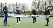 2 April 2017; GAA Healthy Club Ulster Roadshow- inspiring GAA clubs to become hubs for health.  Pictured at the GAA Ulster Healthy Clubs Roadshow is (l-r) Michael Fennelly, hurler with the Kilkenny senior team ,Philly McMahon, Gaelic footballer for Dublin and Ballymun Kickhams,, Mickey Harte, manager of the Tyrone senior inter-county team and Anna Geary, former Cork Camogie captain.. The GAA Healthy Clubs Project (HCP), in partnership with Irish Life and Healthy Ireland, aims to inspire and empower more GAA clubs to support their members and communities in pursuit of better physical, social, and mental wellbeing.  The Ulster Healthy Club Roadshow is the final part of a series of roadshows that took place across the country since January 2017. For more information about the GAA's HCP visit: www.gaa.ie/community. Follow: @officialgaa or Like: www.facebook.com/officialgaa/    GAA Healthy Club Roadshow - Ulster at Jordanstown Ulster University, in Belfast. Photo by Oliver McVeigh/Sportsfile